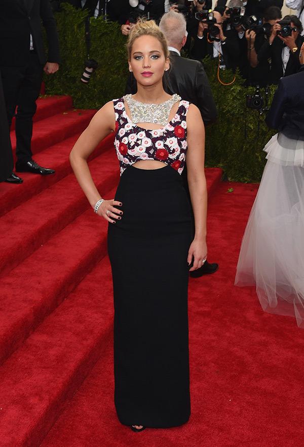 Jennifer Lawrence  Dress by Dior
