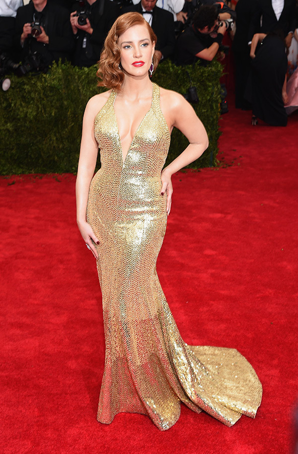 Jessica Chastain  Gown by Givenchy gown