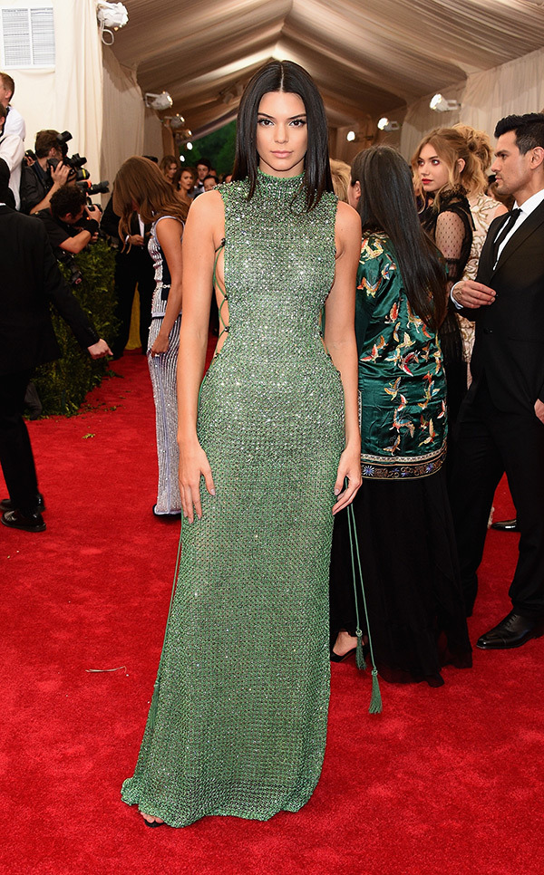 Kendall Jenner  Gown by Calvin Klein