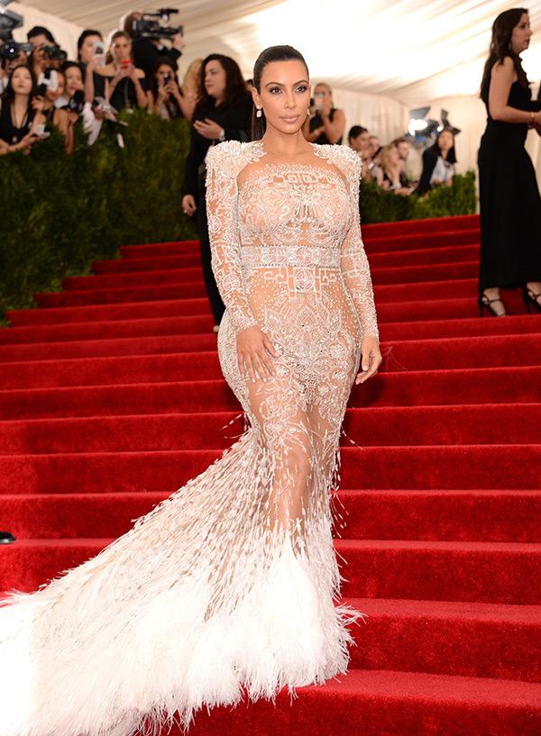 Kim Kardashian  Gown by Roberto Cavalli gown