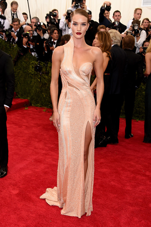 Rosie Huntington Gown by Versace